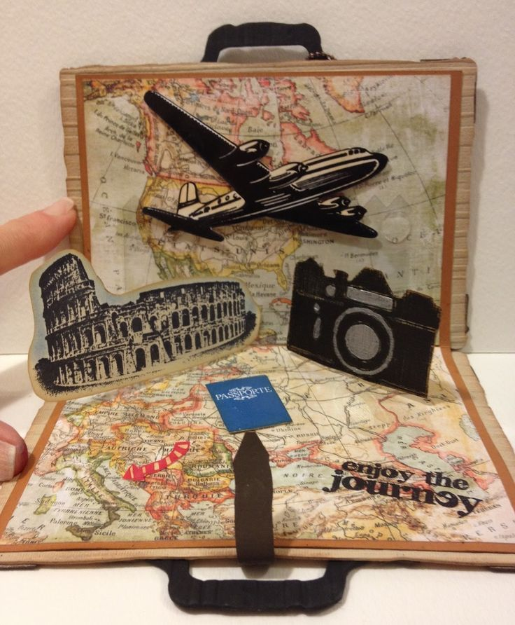 suitcase pop up card