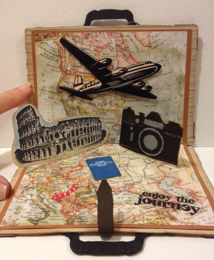 Suitcase pop up card