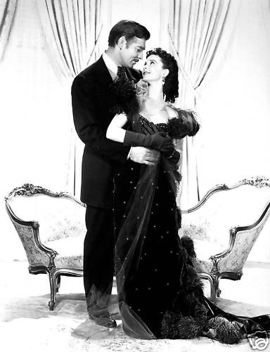 Scarlett O'Hara and Rhett Butler in Gone With the Wind