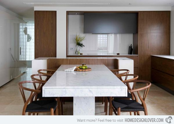 15 Stunning Granite Top Dining Room Tables Kitchen