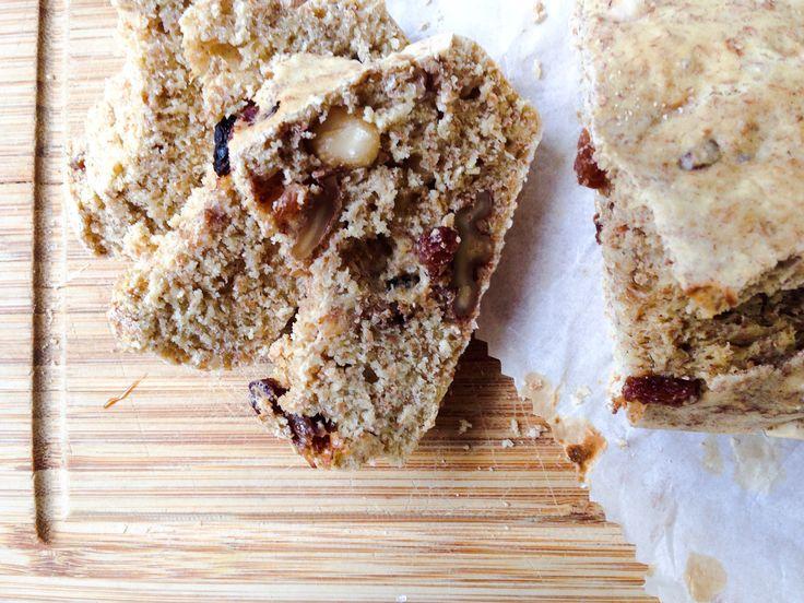 Receptje bananen noten rozijnen cakebrood