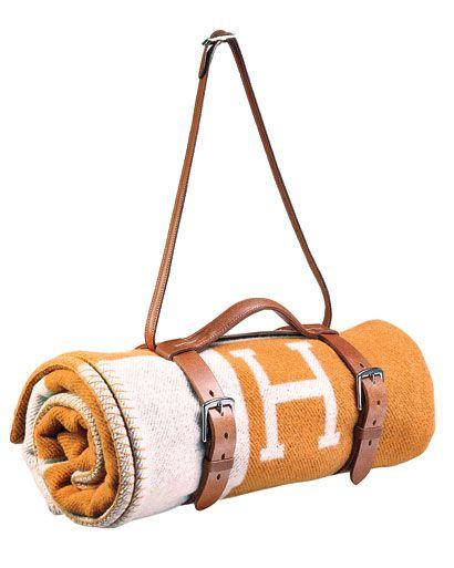 Hermes cashmere blanket.