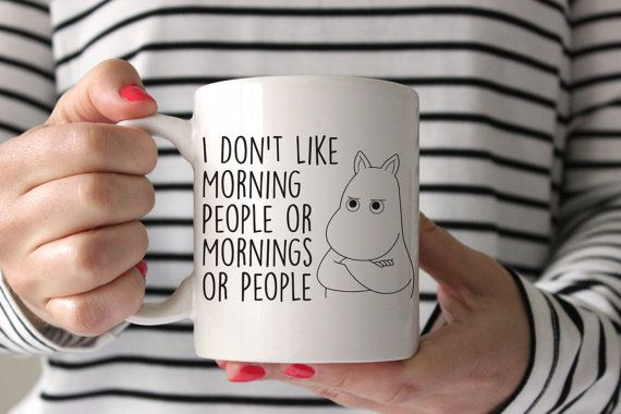 I Don't Like Morning PEOPLE OR MORNINGS Funny Novelty Tea Coffee Ceramic Mug