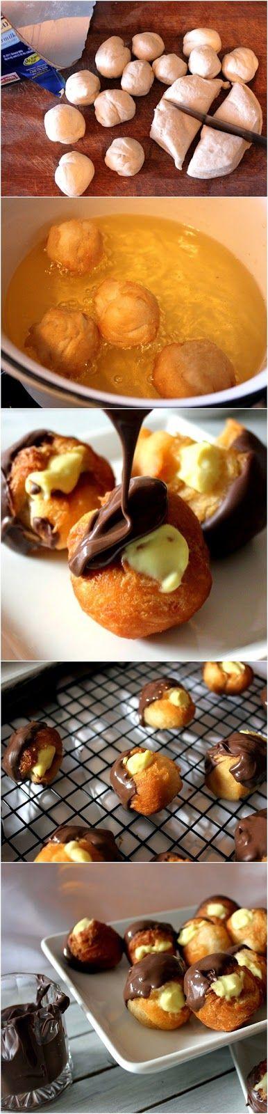 How To Make Boston Cream Doughnut Holes