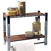 HOMFA Bamboo Bathroom Shelf 3Tier Multifunctional