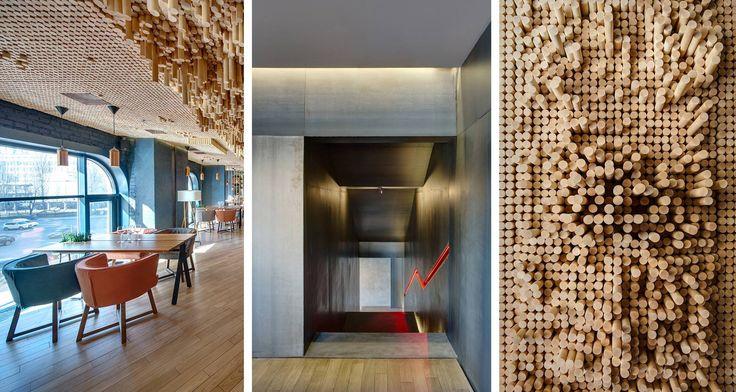Čo hovoríte na interiér tejto Kyjevskej reštaurácie s príznačným názvom ´Teplo´? Dvojpodlažný priestor ponúka množstvo variácií sedenia, atmosféry aj materiality.