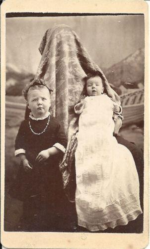 RARE Unusual Antique Spooky Hidden Mother Image CDV Sized Cabinet Card Photo | eBay