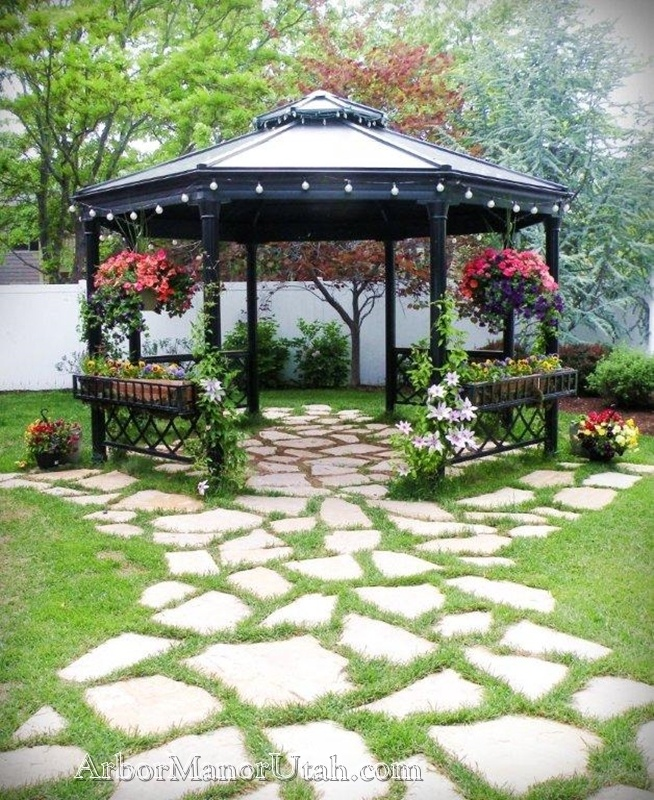 Gazebo In Early Spring Arbor Manor Reception Center Indoor Outdoor UTah Weddings At An Affordable