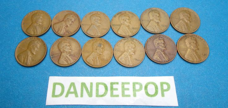 12 1941 Lincoln One Cent 1C Wheat Penny Pennies Coin Money find me at www.dandeepop.com