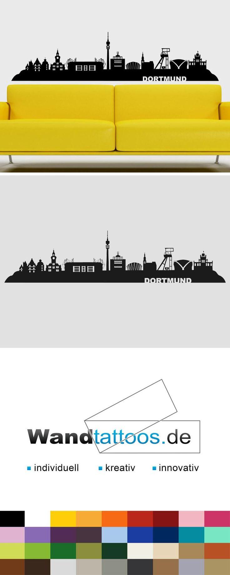 Wandtattoo Skyline Dortmund als Idee zur individuellen Wandgestaltung. Einfach Lieblingsfarbe und Größe auswählen. Weitere kreative Anregungen von Wandtattoos.de hier entdecken!