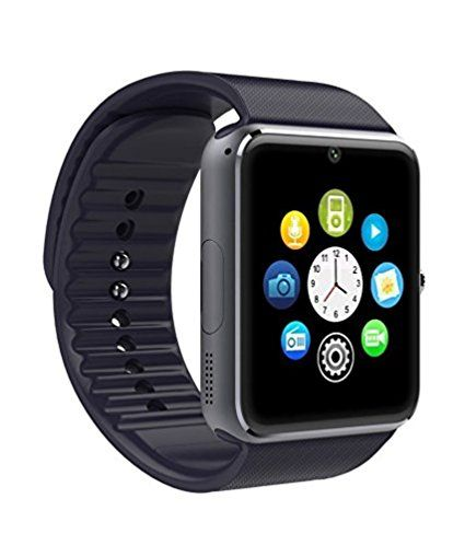Smart Watch Smartwatch GT08 Bluetooth Orologio Cellulare GSM SIM per Wiko Fever, Lenny, Lenny 2, Sunset 2, Bloom, Rainbow nero