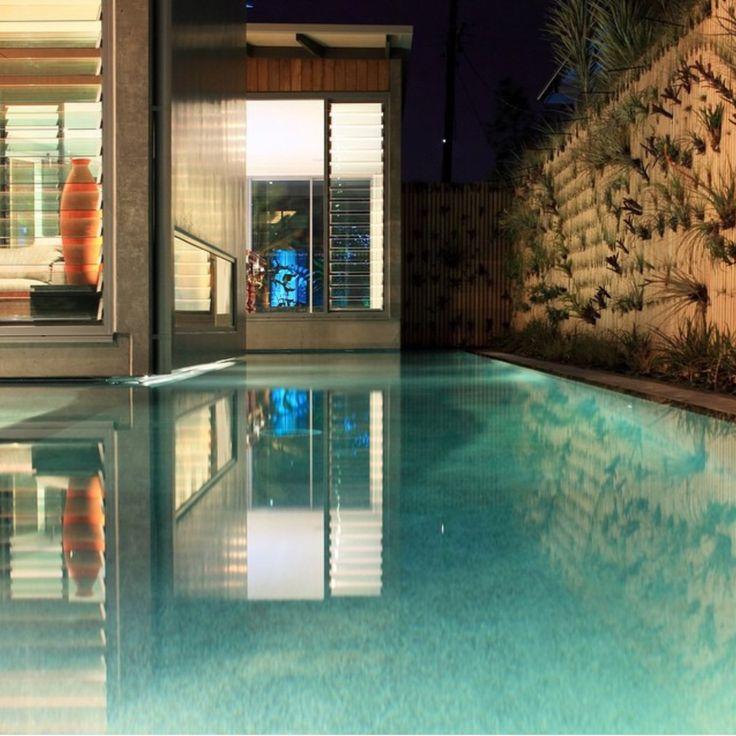 Pool and green walls at GAIA House Mooloolaba Australia www.conlongroup.com.au