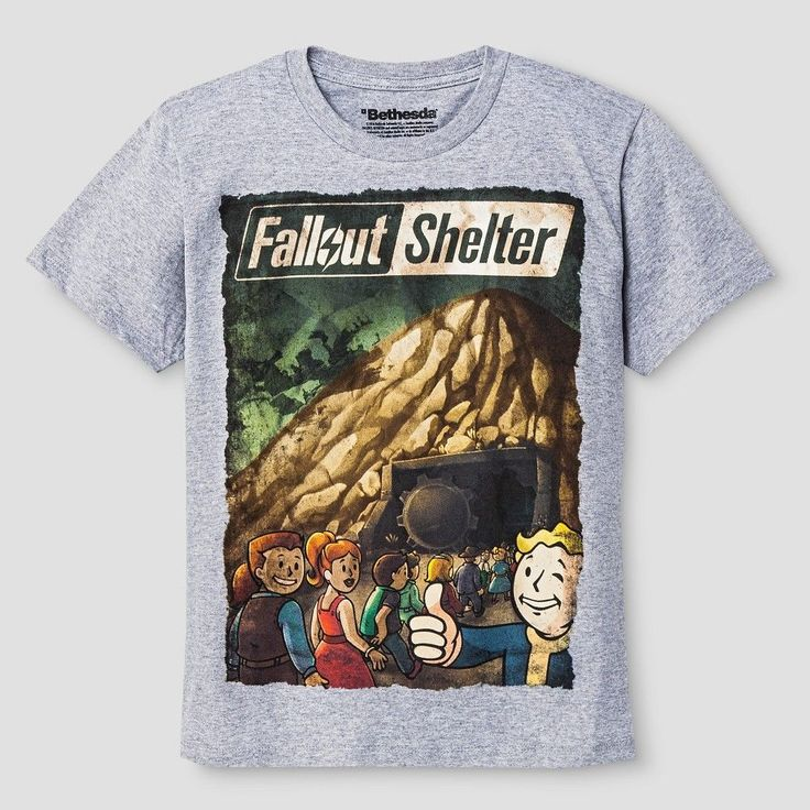 Boys' Fall Out Shelter Graphic Tee - Athletic Heather S, Boy's, Size: