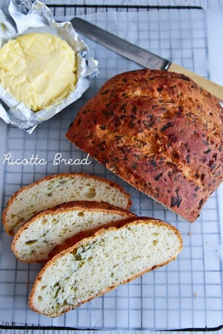 Sunday Baking: Ricotta and Herb Bread