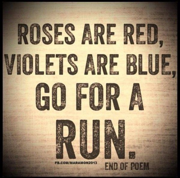 #RunningMeme Friday: Go For a Run (a poem)  Mixing it up a little bit. Here's a poem, brought to you by Mara-Mon. Have a running meme you want to see featured here? Click here to submit it.