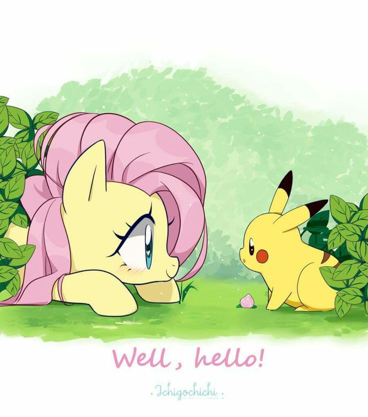 Fluttershy meets Pikachu