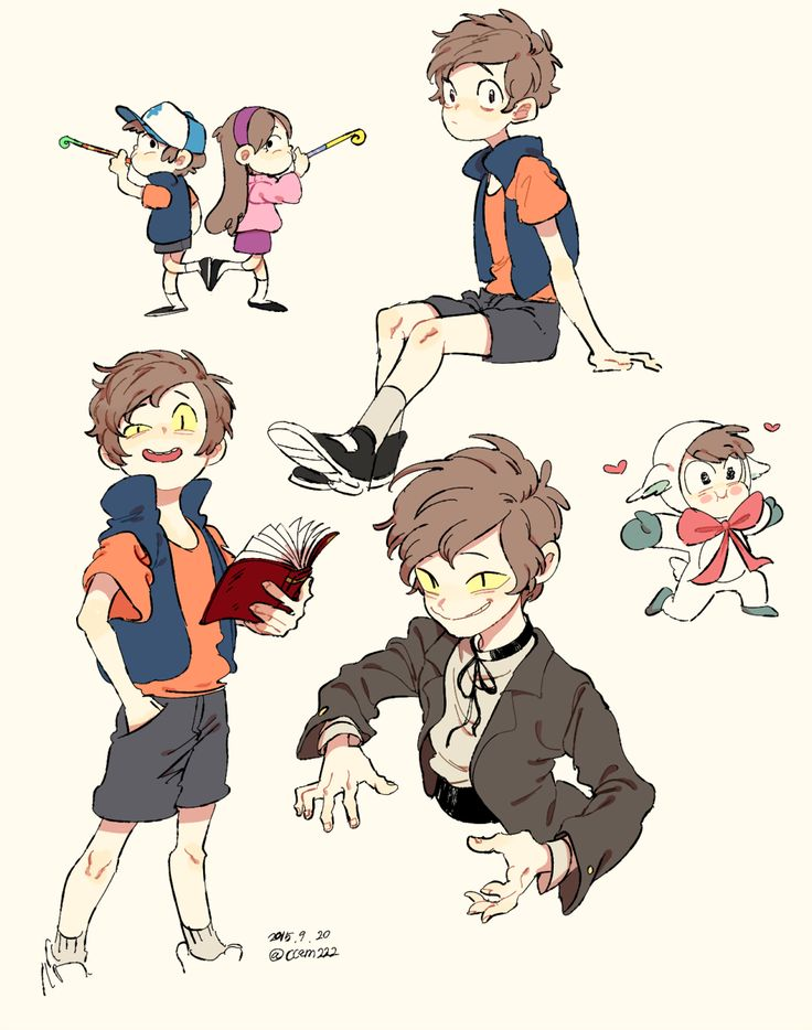 Art by 냐니이이??!? on Twitter — Gravity Falls, Mabel Dipper Bipper