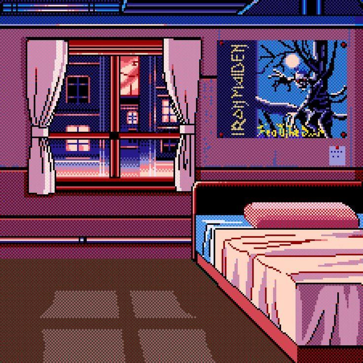 Resultado de imagen de habitacion pixel art