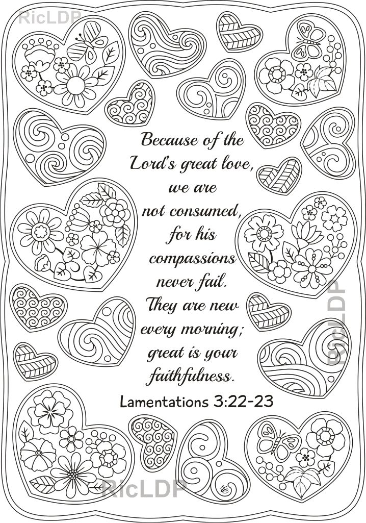 Lamentations 3 22 Coloring Page Lamentations Bible Coloringpage