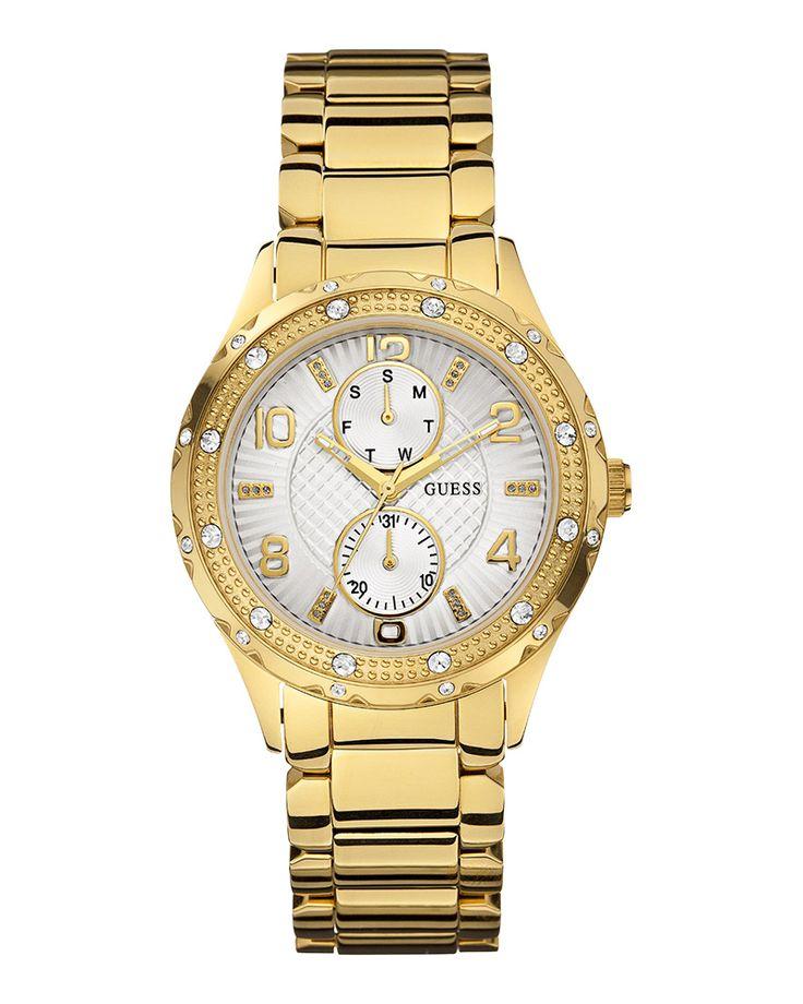 Ρολόι Guess Multifunction Crystal Gold W0442L2