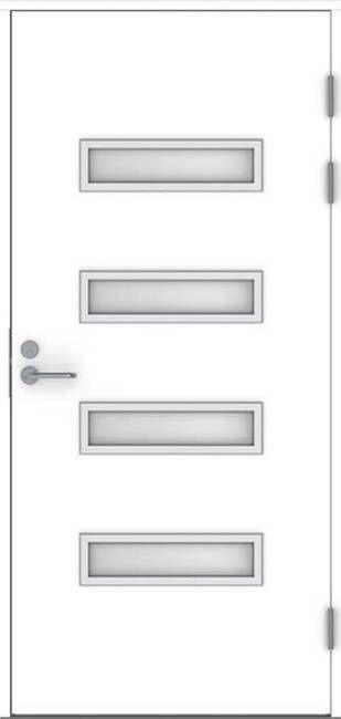 Ulko-ovi Jeld-Wen Function F2090 W53 10x21 valkoinen satiinilasi