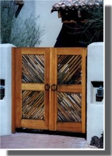 gate with latilla | Southwest Gates Designs and Ideas