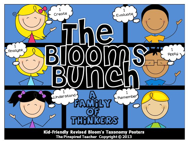 The Pinspired Teacher: Meet The Blooms Bunch: How I Increased My Students Higher-Order Thinking Skills using Characters for Revised Bloom's Taxonomy