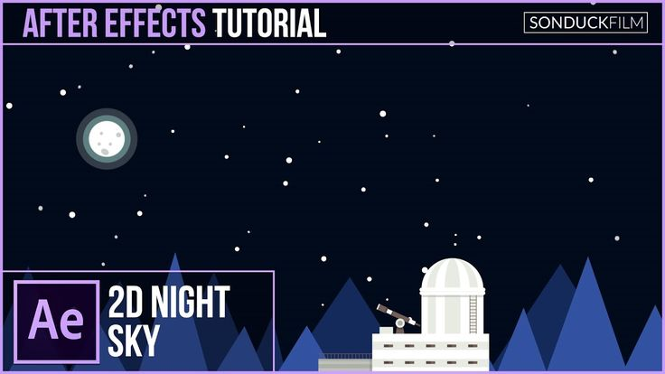 After Effects Tutorial: 2D Space Nighttime Scene | Kurzgesagt Inspired
