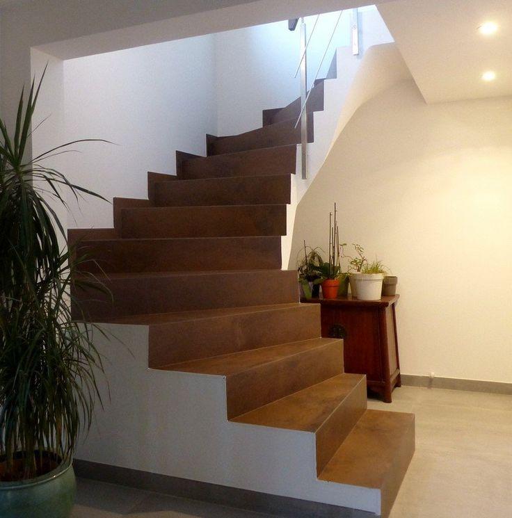 1000 id es propos de escalier beton sur pinterest for Habillage marche escalier beton exterieur