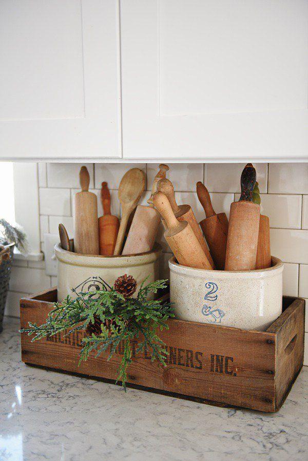 Charming Farmhouse Kitchen DIYs - One Crazy House