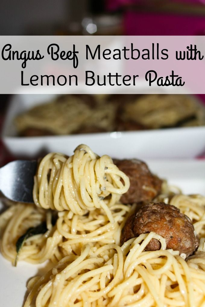 Angus Beef Meatballs with Lemon Butter Pasta is a great twist on classic meatballs and pasta. Try this simple lemon butter sauce. ad