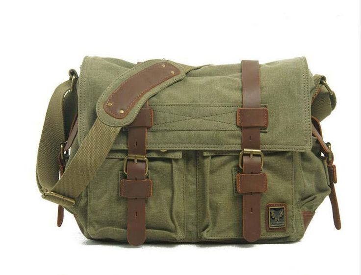 Canvas DSLR Camera Bag, Cross Body Messenger Camera Bag for Canon EOS Nikon Sony Olympus 2138L