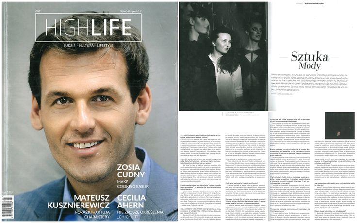 Wywiad dla magazynu HIGHLIFE. nr 002