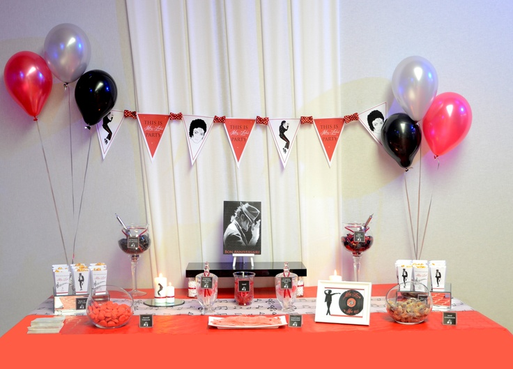 Michael Jackson's Party / Birthday Party / Dessert Table / Sweet Table   by Sweet-Events.fr