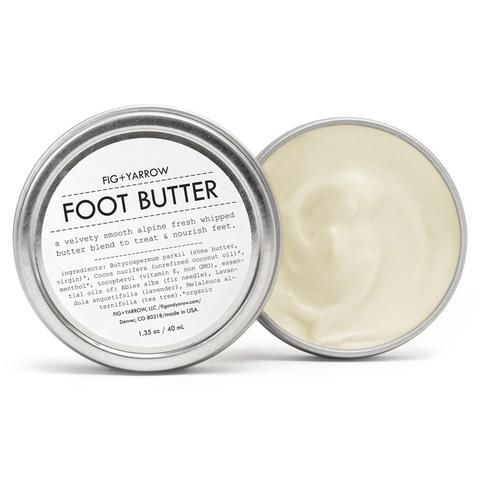 FOOT BUTTER is a velvety smooth alpine fresh whipped butter blend to treat and nourish feet. show your gratitude to those stressed, calloused and endlessly devo