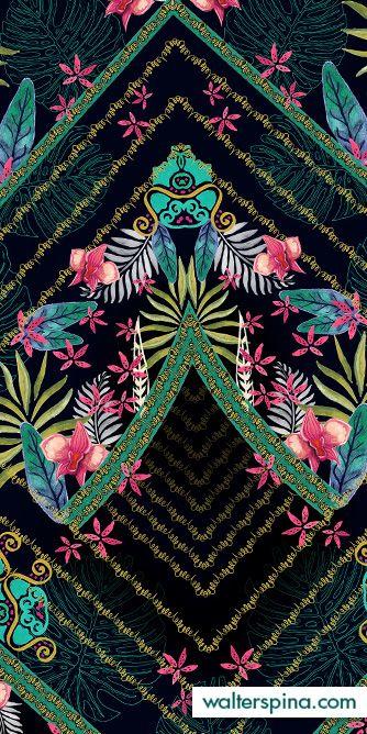 Walter Spina Print Pattern - Tropical Orchid - Desenvolvimento de estampas