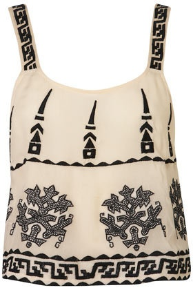 Embroidered Aztec Cami - Tops  - Apparel