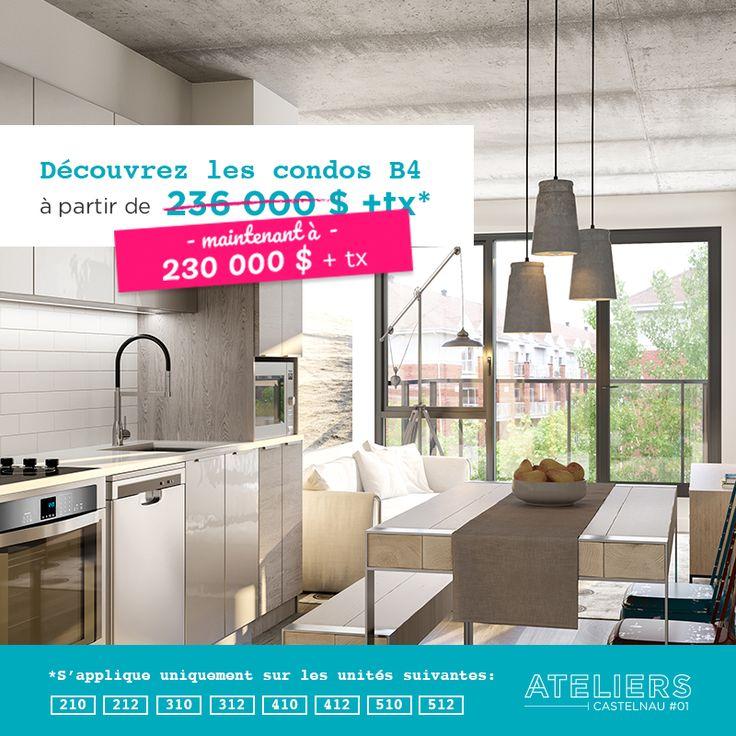 Choisissez un milieu de vie en parfaite harmonie avec votre style avec les condos du projet Ateliers Castelnau. Découvrez maintenant les plans de nos condos B4, à une chambre : http://bit.ly/2uNm9YX