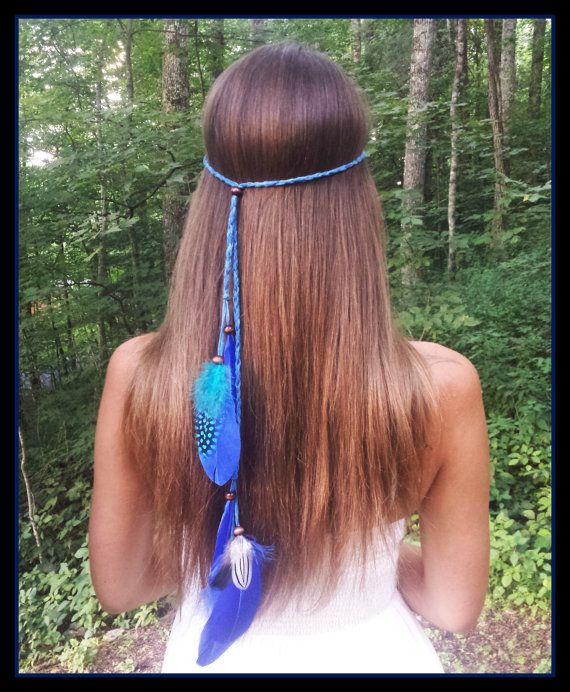 blue feather headband carolina panthers headband by dieselboutique