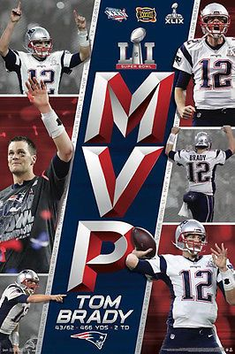 TOM BRADY SUPER BOWL LI (2017) MVP New England Patriots Commemorative POSTER in Sports Mem, Cards & Fan Shop, Fan Apparel & Souvenirs, Football-NFL | eBay