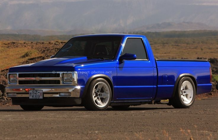 Image of a 1992 Chevrolet S-10 at drag racing event in Iceland 18.06.2012.