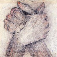 1955 . Mãos Entrelaçadas