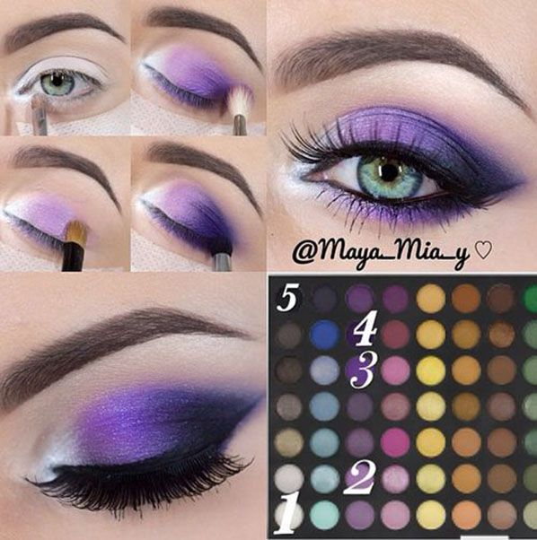 Eye Makeup   Eyeshadow   Eye Makeup Tutorials #purple