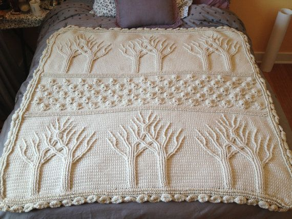 Tree Of Life Knitting Pattern Afghan : op Etsy http://www.etsy.com/nl/listing/127527495/tree-of ...