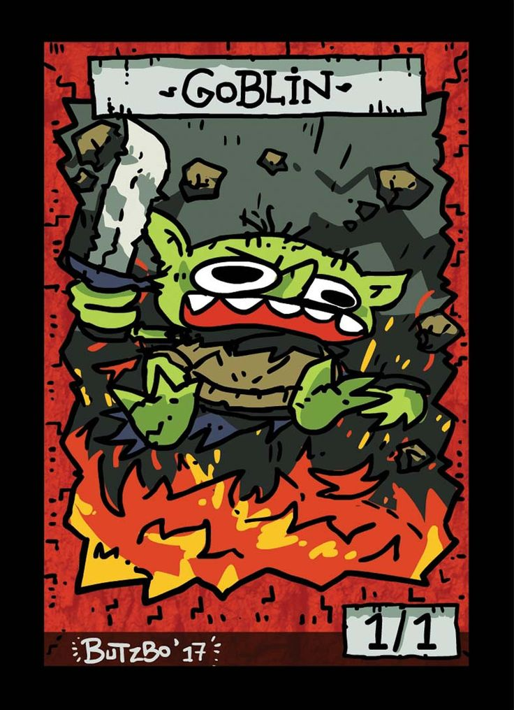 Goblin 2 Token for MTG (Butzbo)