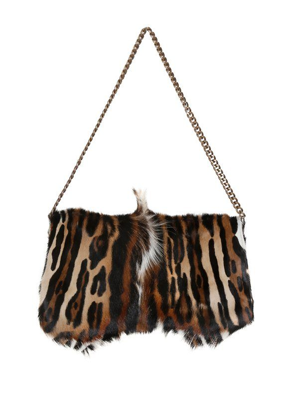Large Fur Clutch Red Handbag Purse Bag Etsy