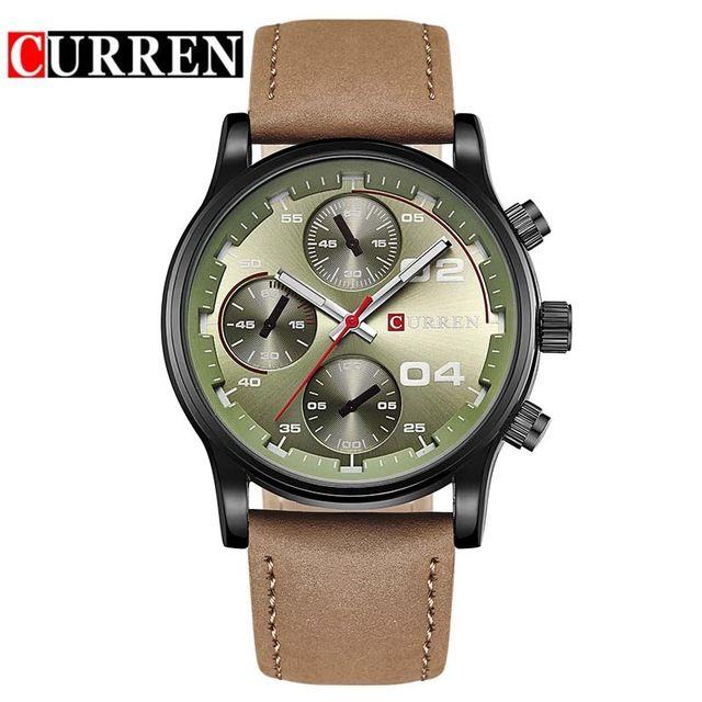 Curren reloj superior de la marca de lujo para hombre relojes del cuero analógico fecha de deporte casual hombres reloj de pulsera de cuarzo relojes 8207