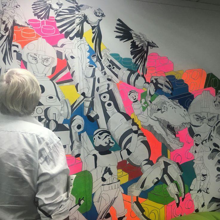 Office mural by #CharlotteHawleyCreative #Lots
