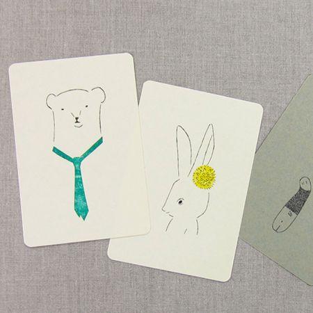 絵と木工のトリノコ ガリ版刷ポストカード【楽天市場】
