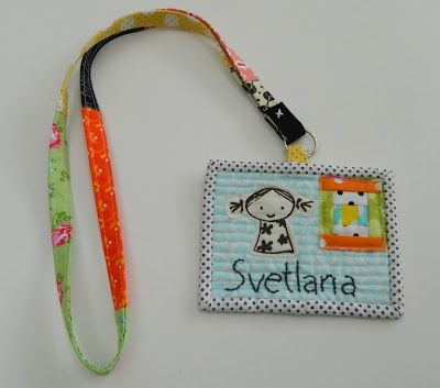 patchwork lanyard with quilted name tag  by s.o.t.a.k handmade: so sweet!
